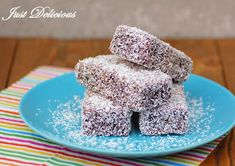 CHOCOLATE LAMINGTONS - We've been asked to make these so many times that we felt like we couldn't ignore it anymore. A square of delicious vanilla sponge dipped in a rich chocolate icing and then coated in desiccated coconut. Fun Baking Recipes, Baking Tins, Sweet Recipes, Dessert Recipes, Tart Recipes, Traditional Australian Food, Lamingtons Recipe, Czech Desserts, Coconut Icing