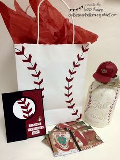 Baseball Themed Father's Day Gift :: Confessions of a Stamping Addict Lorri Heiling