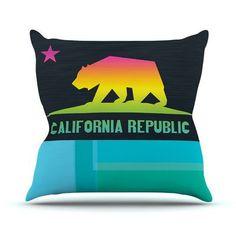 East Urban Home California Fimbis Throw Pillow Size: