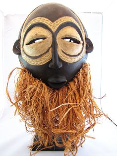 Authentic African Tribal Mask from Congo by PaulskiArt on Etsy