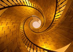 Santiago de Compostela, Spain, Triple staircase by Ricardo Bevilaqua Grand Staircase, Staircase Design, Beautiful Stairs, Beautiful Places, Paradis Sombre, Take The Stairs, Stair Steps, Stairway To Heaven, Architectural Elements