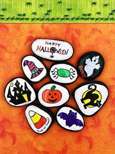 Halloween Story Stones Trick or Treat Story Starters Halloween Stories, Halloween Activities, Halloween Games, Halloween Costumes, Halloween Rocks, Happy Halloween, Halloween Ideas, Scary Halloween, Halloween Crafts