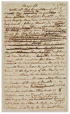 Jane Austen - manuscript page from Persuasion