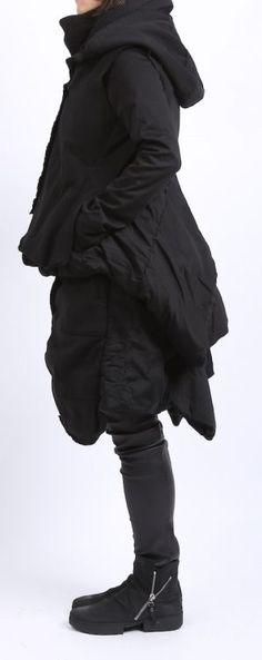 rundholz dip - Rock mit einer Hose wattiert Cotton Sweater black - Winter 2016 - stilecht - mode für frauen mit format...