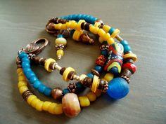 Ethnic Bracelet Multi Strand Ethnic Jewelry Tribal by BijouxFan, $48.00