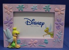 Tinker Bell Kneeling Purple Border with Flowers Picture Frame Disney Enesco | Collectibles, Disneyana, Contemporary (1968-Now) | eBay!