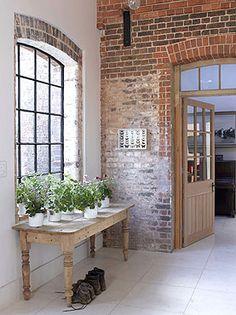 Brick walls add rustic charm......