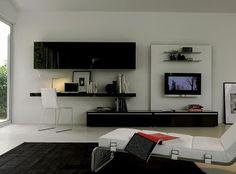 Mobila si Stil: Living modern cu birou integrat