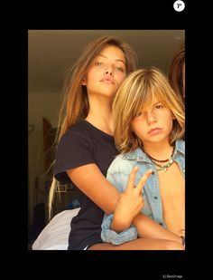 Exclusif : Thylane Blondeau, young model, and bro Ayrton.