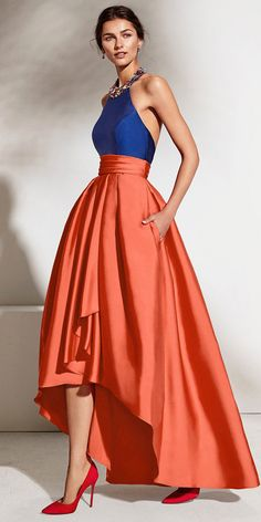 Enchanting Satin Halter Neckline Backless Hi-lo A-line Prom Dress With  Beadings   bad06109d8565