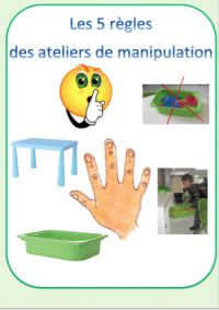 Affichage des règles des ateliers de manipulations - Le jardin d'Alysse Petite Section, School Organisation, Montessori Materials, Early Childhood Education, Fine Motor Skills, Busy Bags, Learning Activities, Preschool, Classroom