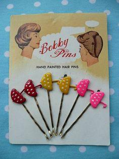 vintage umbrella bobby pins!