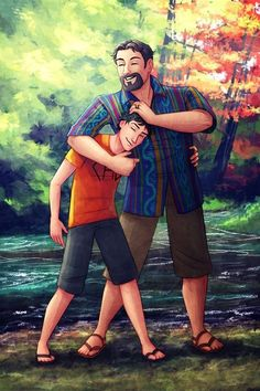 Poseidon and Percy Jackson Love this!! Happy Birthday Percy!!!!! And Poseidon, your son is AMAZING!!!!