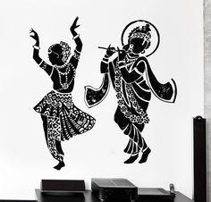 Buddha Dance Wall Decal Home Decor Elephant Ganesh Buddhism Om Yoga Wall Stickers Mandala Art, Mandala Drawing, Dance Paintings, Indian Art Paintings, Dancing Drawings, Art Drawings Sketches, Arte Krishna, Krishna Radha, Art Indien