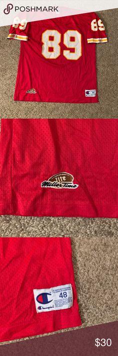 08198435f18 Vintage Kansas City Chiefs Rison Champion Jersey