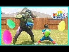 EASTER EGGS Surprise Toys Challenge Disney Cars Toys Paw Patrol Batman Superman Thomas and Friends - YouTube