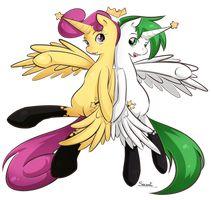 Cosmo and Wanda as Alicorns.