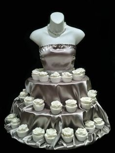 The Couture Cupcake Stand dress for birthdays, partys, bridal showers, quinceanera and special events by theEventFairy Cupcake Stand Wedding, Cake And Cupcake Stand, Cupcake Cakes, Cupcake Towers, Wedding Cake Prices, Wedding Cakes, Beautiful Cakes, Amazing Cakes, Birthday Celebration