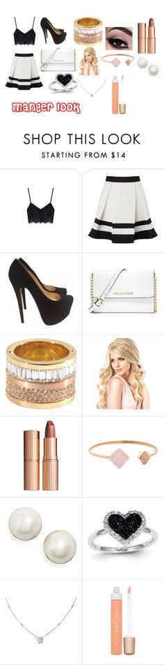 """""""manger look"""" by minions4ever123 on Polyvore featuring Lipsy, Christian Louboutin, MICHAEL Michael Kors, Charlotte Tilbury, Michael Kors, Kate Spade, Kevin Jewelers, Ice and Jane Iredale"""