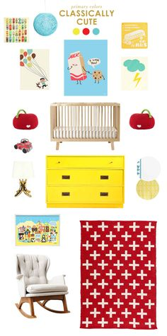 primary colors - this is the way I'm leaning towards for the playroom