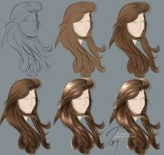 Seven Things That Happen When You Are In Hair Painting Process Digital Painting Tutorials, Digital Art Tutorial, Art Tutorials, Digital Paintings, Drawing Hair Tutorial, Poses References, Anime Hair, Hair Painting, Painting Process