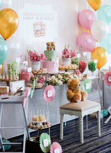 Party Display from a Teddy Bear Forever Friends Birthday Party via Kara's Party Ideas KarasPartyIdeas.com (23)