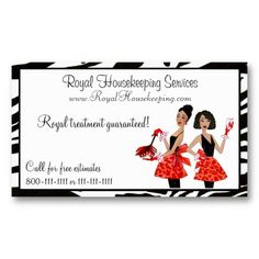 Watercolor Feather Duster Home Cleaning Service Business Card ...