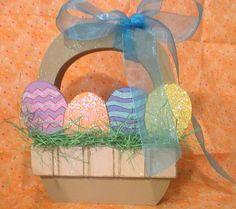 Wooden Easter Basket.