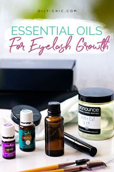What do you need to make a DIY eyelash growth serum? 4 oils, a small glass bottle, and an eyelash brush. Yep, it's that simple! Essential Oils For Hair, Essential Oil Perfume, Essential Oil Diffuser Blends, Oil For Eyelash Growth, Natural Eyelash Growth, Eyebrow Growth Serum, How To Grow Eyelashes, Natural Eyelashes, Glass Bottle