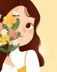 """""""There was a whole magnificent soul burning brightly behind her shy🌻🌷🌸"""" - Atticus Cute Illustration, Character Illustration, Donia, Cartoon Art Styles, Cartoon Girl Drawing, Cute Cartoon Wallpapers, Anime Art Girl, Art Sketchbook, Illustrations"""