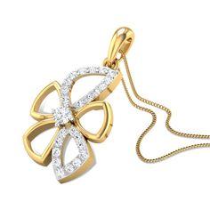 Eva Diamond Gold Pendant