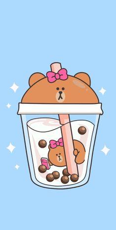 Tea Wallpaper, Cute Anime Wallpaper, Cute Wallpaper Backgrounds, Wallpaper Iphone Cute, Aesthetic Iphone Wallpaper, Disney Wallpaper, Cute Food Drawings, Cute Kawaii Drawings, Kawaii Doodles