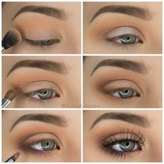 50 perfekte Make-up-Tutorials für grüne Augen 50 makeup tutorials for green eyes -Simple Pretty Eye Shadow Tutorial – amazing green eye makeup tutorials for work for prom for weddings for every day easy step by step diy guide for beautiful natural look- t Eyeshadow Tutorial For Beginners, Makeup Tutorial Step By Step, Makeup For Beginners, Beginner Makeup Tutorial, Easy Eyeshadow Tutorial, Brown Smokey Eye Makeup Tutorial, Make Up Ideas Step By Step, Natural Eyeshadow Tutorials, Simple Makeup Tutorial