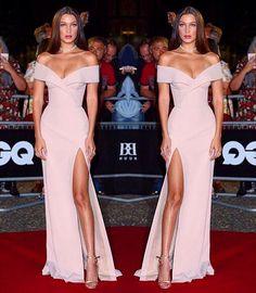 Esse vestido que sonho parabéns @bellahadid  Achei meio #CostureiraAmiga que tal?! {regram @gabriela_ganem} #bellahadid #fashion #ootd #redcarpet