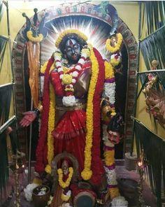 Kali Mata, Durga Images, Kali Goddess, Durga Puja, Samurai, Living Room Decor, Studios, Art, Drawing Room Decoration