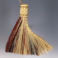 Turkey Wing Broom in your choice of Natural Black by BROOMCHICK