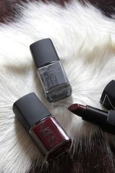 dark grey-blue + oxblood. #fallnailpolish  want the oxblood polish!! must order/buy soon!!!!!