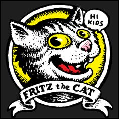 Hi, Kids This Robert Crumb illustration of bad boy Fritz the Cat was pulled from the cover of Head Comix. A Keep On Truckin' Apparel exclusive design. Robert Crumb, Underground Comics, Fritz The Cat, Tv Movie, Alternative Comics, Cat Character, Character Design, Bd Comics, Chef D Oeuvre