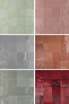 les carreaux de la crédence de la cuisine. Le rouge est plutôt à rapprocher des tomettes du sol Zellige tiles | Mosaic del Sur