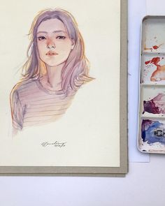 9,079 vind-ik-leuks, 28 reacties - @elfandiary op Instagram: '☕️ - watercolor on arches - please kindly check youtube.com/elfandiary for video process of this…'