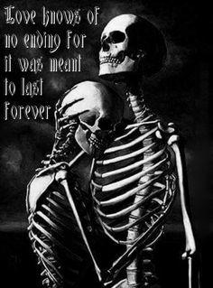 'til death do us part by bleu. Skeleton Love, Skeleton Art, Skeleton Tattoos, Gouts Et Couleurs, Dark Romance, Dark Love, Bild Tattoos, Wow Art, Skull Art