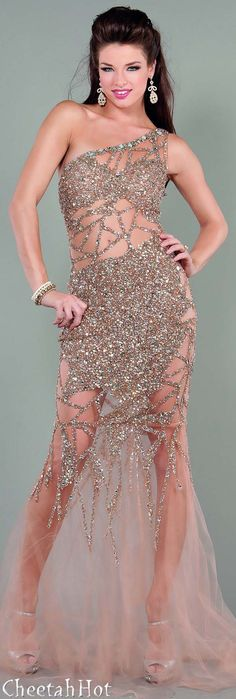 Probably would never get this but it's interesting  JOVANI - Sparkling Sheer Dress