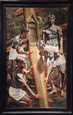 [Bruce Sargeant (1898-1938)] Launching the Scull n.d. Oil on canvas 60 x 36 inches Work by Mark Beard