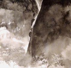 Mountain frost fall, oldsum artwork,  Ink, Jan 2016 chanwingsum.weebly.com