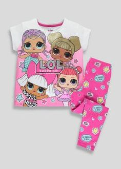 How cute are these Lol Surprise Pjs new to we just love them! Baby Girl Halloween, Lol Doll Cake, Girls Pjs, Night Suit, Slippers For Girls, Matalan, Bedtime Routine, Lol Dolls, Christmas Baby