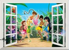 TinkerBell & Fairy 3D Window Wall Decals Removable Kids Decor Nursery Sticker #WallDcor