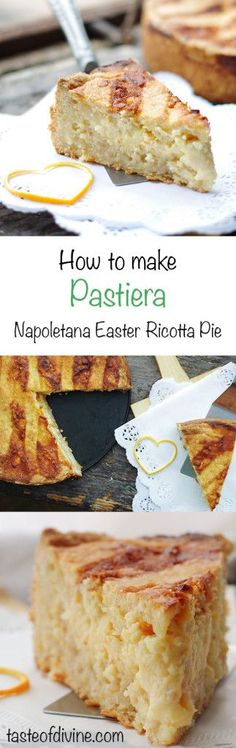 A traditional Italian Easter ricotta pie from Naples.