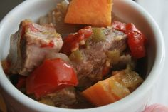 Mexican Pork and Sweet Potato Stew   freezer meal friendly directions in post!