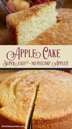 Moist Apple Cake, Easy Apple Cake, Apple Cake Recipes, Tart Recipes, Easy Cake Recipes, Fruit Recipes, Chocolate Recipes, Baking Recipes, Dessert Recipes