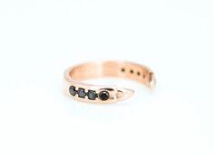GEIS RING ROSEGOLD BLACK DIAMONDS